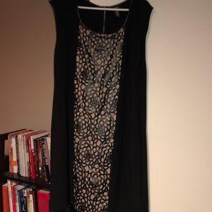 Alfani leather accent dress 2x